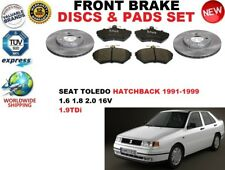 para SEAT TOLEDO 1l Hatchback 91-99 Discos freno Delantero Set + PASTILLAS DE