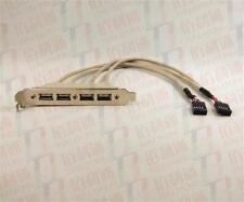 Expansion Cable 4 Port Hub USB 2.0 Header to Dual 9 Pin Mainboard  Bracket BS