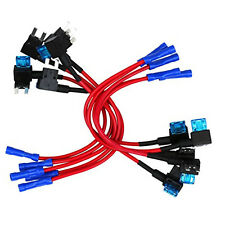 12V Car Add-a-circuit Fuse With Crimp Connector AMP Blade Fuse Holder Top 10 Pcs