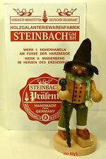 "STEINBACH GERMAN WOODEN NUTCRACKER CHUBBY SMOKER ""HAPPY WANDERER"" S 949 NEW"