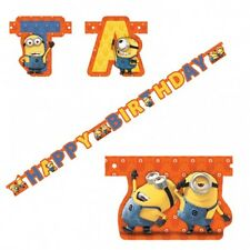 Minions Jointed Banner Cardboard Birthday Party Decoration