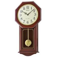 Seiko Raeburn Wooden Pendulum Chiming Wall Clock 54cm