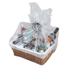 MAKE YOUR OWN HAMPER WICKER BASKET CELLOPHANE BOW EASTER GIFT SET FOOD WINE DIY