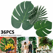 36 Tropical Artificial Palm Leaves Jungle Foliage Hawaiian Luau Summer Party Dec