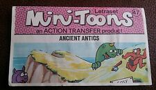 Mini-Toons Letraset action transfer product, ANCIENT ANTICS 1970