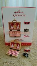 Hallmark 2016 Picnic Set Cherry Pie Barbie miniature Ltd Qty Christmas Ornament