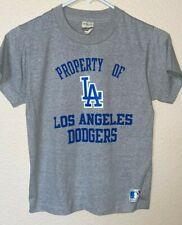 Vintage Kid's sz 14-16 PROPERTY OF LOS ANGELES DODGERS Baseball Gray T-SHIRT