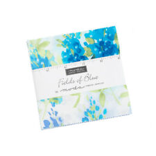 "Moda Charm pack Fields of Blue 42 - 5"" 100% cotton squares 33450PP"