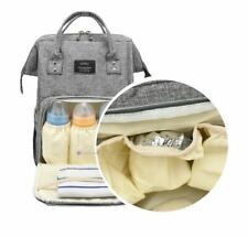 Bmo Diaper Bag Backpack, Maternity Nappy Bags Waterproof (Gray) Baby Shower Gift