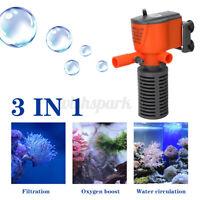 Spray Air Aquarium Water Pump Submersible Fish Tank Fountain Water Filte *h