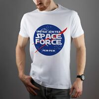 Space Force T-Shirt Trump Shirt USSF Short Sleeve US Space Force Pew Tee Casual