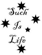 Vinyl car decal Southern Cross & Such is Life Ned Kelly - Choose colour
