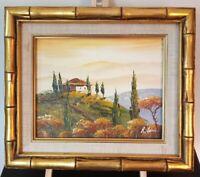 Original IMPRESSIONISTIC Landscape OIL PAINTING on Canvas. SIGNED and FRAMED