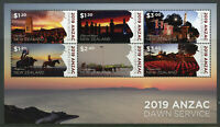 New Zealand NZ 2019 MNH WWI WW1 Anzac Dawn Service 6v M/S Military War Stamps