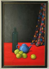 Dee Jones Still life with apples oil on canvas