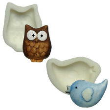 Silicone Moulds - Set Of Two - Owl & Bird - Food Safe