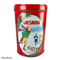 1991 Lifesavers Christmas Holiday Keepsake Limited Edition Tin Can Empty