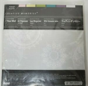 Creative Memories I Thee Wed Black White Kit 8x8 Power Palette Scrapbook paper