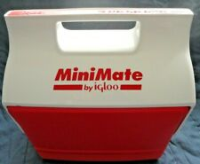 Mini Mate by Igloo Red & White Small Lunch or Can Cooler Ice Chest Roll Top NOS