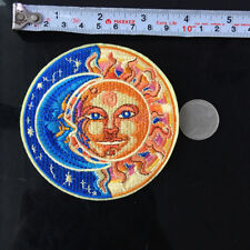 1Pc Sun and Moon Patch Embroidered Peace Sign Badge Flame Sewing DIY Iron on