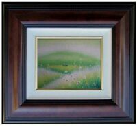 Framed Quality Hand Painted Oil Painting, Field with Wild Flowers, 8x10in