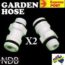 X2 Garden Fitting Hose Quick Connect SnapOn Caravan Boat Water Filter FASTPOST