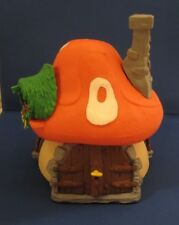 Smurfs Large Orange Mushroom House Smurf 40001 Vintage Schleich Playset Toy 1976