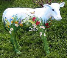 KALB KUNSTBEMALUNG SOMMERWIESE lebensgross Deko Garten Tier Figur KUH Skulptur