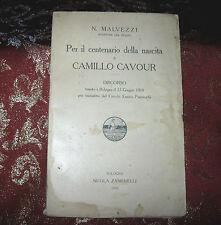 Libro Antico 1910 Per Il Centenario della Nascita di Camillo Cavour