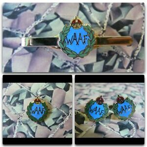 Womens Auxiliary Air Force Lapel / Cuff Links / Tie Bar Gift Set WAAF