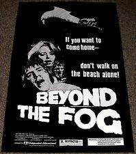 Beyond The Fog 1980 Original Movie Poster Horror on Snape Island Exploitation