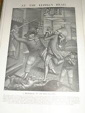 1901 PRINT ADMIRAL KEPPEL 1778 VICTORY HARLAND PUB SIGN