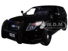 2015 FORD INTERCEPTOR UNMARKED POLICE CAR BLACK 1/24 CAR BY MOTORMAX 76963