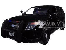 2015 FORD INTERCEPTOR UNMARKED POLICE CAR BLACK 1/24 CAR BY MOTORMAX 76963