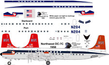 Northwest delivery Douglas DC-7C airliner decals for F-RSIN 1/144 kits