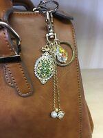 Key Ring Bag Charm Rhinestone Crystal Keyring Keychain