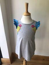 Mini Boden niñas gris W37. Parrot Vestido 3-4 años