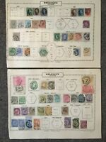 lot Belgique Belgium 38 stamps timbre 1850 ===> 1889 + divers & chemin de fer