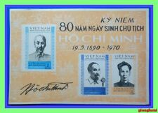 North Vietnam Imperf S/S Pres.Ho Chi Minh 1970 MNH NGAI