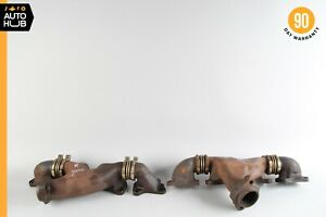 92-99 Mercedes W140 S500 400SEL V8 Right and Left Exhaust Manifold Set of 2 OEM