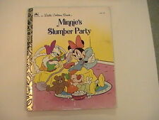 1993 Minnie's Slumber Party A Little Golden Book 100-78 Very Good VG