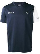 Z Zegna Maserati T-Shirt In Navy Blue - Medium
