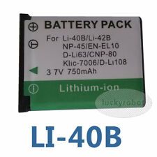 Battery for LI-42B 40B OLYMPUS Rechargeable Battery Pack