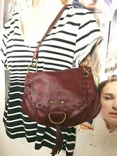 CLASSIC STYLE BURGUNDY WINE WITH TASSLE HOBO BAG #SALE #FREE SHIP
