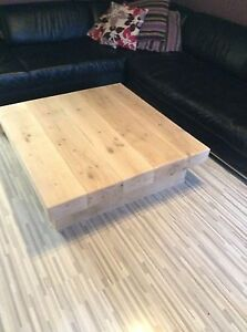 HANDMADE SOLID RUSTIC NATURAL OAK WOOD COFFEE TABLE & TV UNIT Clear/Medium/Dark