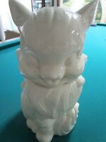 1940S FLUFFY CAT COOKIE JAR ALL WHITE GORGEOUS