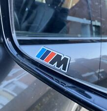 BMW M sport stickers Printed On Brushed Steel Vinyl Decal X 4