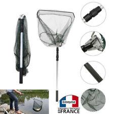 Grande épuisette télescopique extensible pour pêche filet perche poisson 1.90m