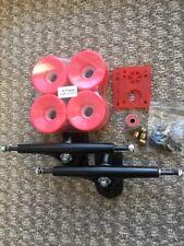Longboard Wheels & Trucks Bundle180mm Trucks 76mm 78a Wheels Bearings A 7