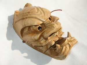 Handcrafted Traditional ONI Mask (Japanese Demon)